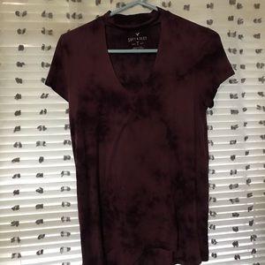 Keyhole front T shirt